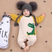 ins風加厚包屁寶寶爬爬服哈衣幼嬰兒連體衣服秋冬裝長袖鱷魚 新年特惠