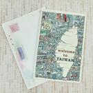 【收藏天地】插畫明信片★立體明信片-welcom to TAIWAN/ 送禮 旅遊紀念
