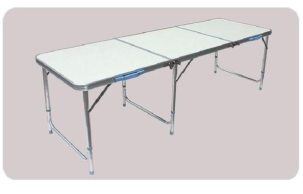 [ 家事達 ]HD- 4332C 加長版 三折摺疊桌 60*180cm 三段調高 雙提把 鋁合金 會議桌  折疊桌  特價