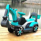 新款兒童挖掘機可坐可騎大號電動挖土機鉤機男孩玩具車不帶遙控車 智聯igo