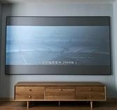 抗光幕布92/100/110/120寸超窄邊金屬畫框家用高清投影儀幕布硬幕-快速出貨FC