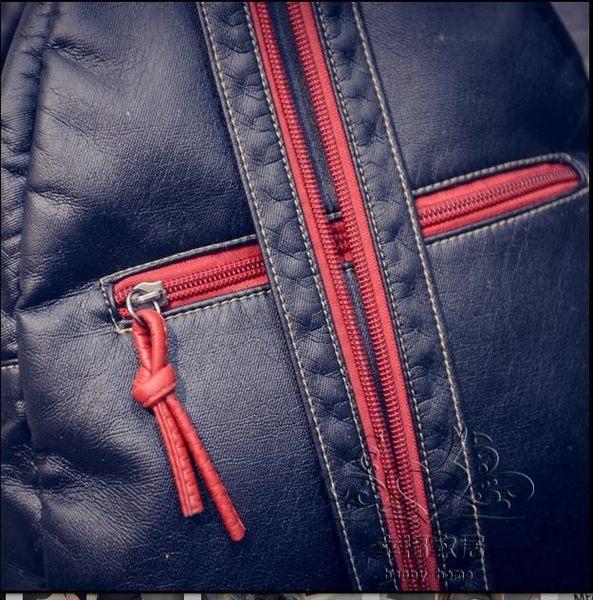 新品正韓潮流水洗皮後背包斜背包女包時尚休閒背包旅行包百搭包包