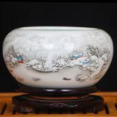 景德鎮陶瓷創意大煙灰缸 客廳擺件時尚個性茶海復古實用茶洗筆洗·享家生活館