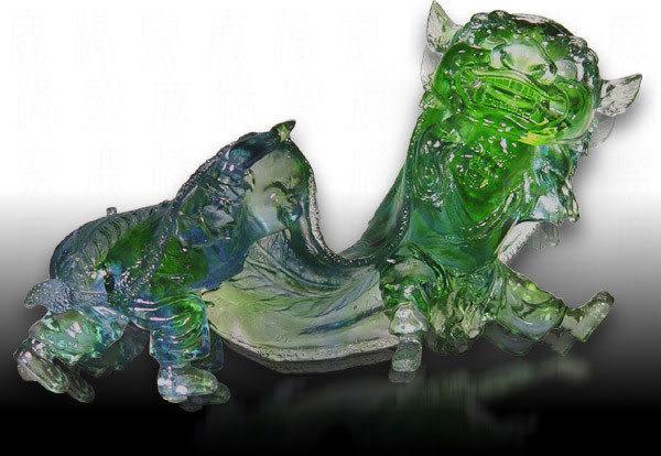 鹿港窯~居家開運水晶琉璃【舞獅】附精美包裝◆附古法制作珍藏保證卡◆免運費送到家
