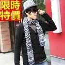 圍脖針織拼色品味-雙面格紋秋冬保暖圍巾7款64t12【巴黎精品】