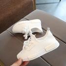 童鞋春夏款男女中大童鞋學生休閒白色網面透氣運動網鞋潮