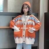 小清新針織開衫慵懶風毛衣女秋冬外穿長袖韓版寬鬆上衣外套ins潮   蘑菇街小屋