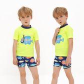 外貿兒童泳衣 男童分體泳衣 泳褲中大童防曬泳裝 小童寶寶嬰兒游泳衣