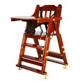 嬰兒童餐椅實木多功能可調節便攜帶摺疊寶寶吃飯做桌椅酒店bb凳  igo 居家物語