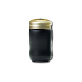 【收藏天地】乾唐軒活瓷系列*快樂隨身杯 黑款 ∕按摩 舒緩 碧璽 電氣石 養生 健康 負離子