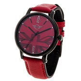 MINI Swiss Watches 簡約英國旗幟計時腕錶-紅 MINI-160620