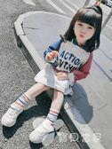 童裝女童春裝2018韓版新款連身裙寶寶洋氣衛衣裙子春秋兒童長裙潮