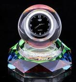 車內帶鐘表水晶球擺件KM358『伊人雅舍』