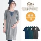 日本純棉短袖產前孕婦裝/產後哺乳衣兩穿服(哺乳衣/孕婦裙)【BA0001】