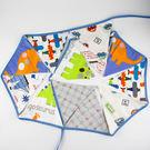 [韓風童品] 男童生日派對裝飾   三角旗掛飾  拍攝道具背景裝飾掛旗  車車飛機圖案棉布三角旗