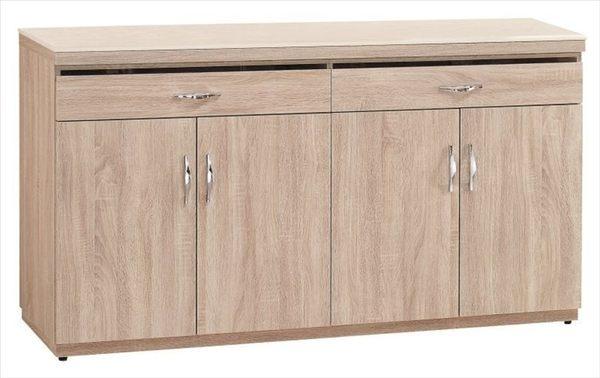 【新北大】✪ T313-2 北原橡木色5.3尺餐櫃下座(含石面)-18購