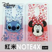 [專區兩件七折] MIUI 紅米Note4X 迪士尼 透明 手機殼 手機套 背景彩繪 史迪奇米奇米妮 卡通 保護殼