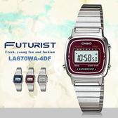 CASIO LA670WA-4 科技感優雅電子錶 LA-670WA-4SDF 熱賣中!