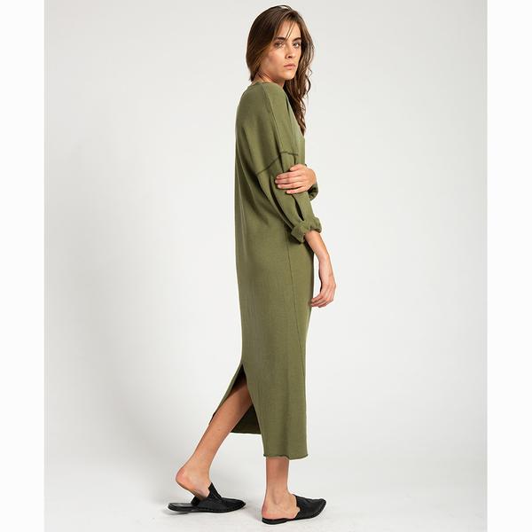 OneTeaspoon 洋裝- 有機棉 ORGANIC COTTON AND HEMP DRESS-女(綠)