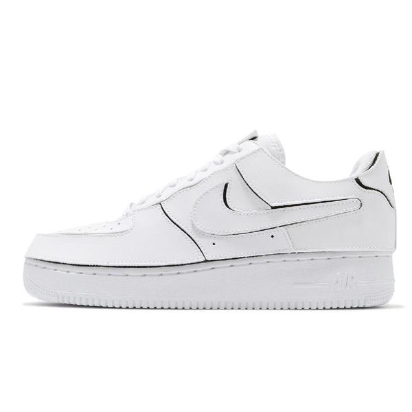 Nike 休閒鞋 AF1/1 白 全白 魔鬼氈 可換貼片 Air Force 1 男鞋 【ACS】 CZ5093-100