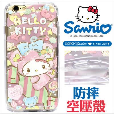 免運 官方授權 三麗鷗 Hello Kitty 高清 防摔殼 空壓殼 iPhone 6 6S Plus S7 Edge Note5 X XA X9 10 手機殼 糖果