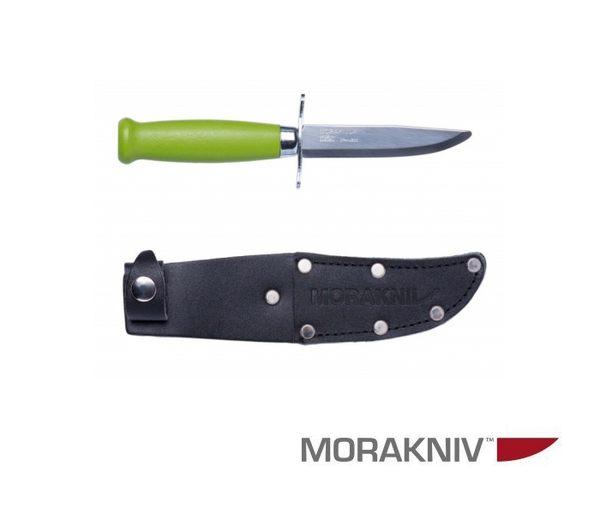 丹大戶外用品【MORAKNIV】瑞典 CLASSIC SCOUT 39 SAFE 經典木柄不鏽鋼短直刀 綠 12022