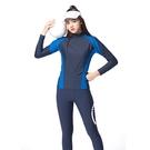 女長袖短水母衣泳裝泳衣現貨台灣製造美國杜邦萊卡男女情侶裝【36-66-W-88340-21】ibella 艾貝拉