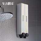 500ml典藏霧銀2孔給皂機 SHCJ生活采家 高端飯店浴室壁掛式 給皂液器 洗手液器#47010