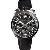 BOMBERG 炸彈錶 BOLT-68 鋼色黑面計時碼錶-45mm BS45CHSS.008.3