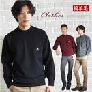 【大盤大】(N828) 100%純羊毛毛衣 套頭毛衣 男 半高領口袋上衣 圓領 百搭 發熱 彈性 父親節長輩