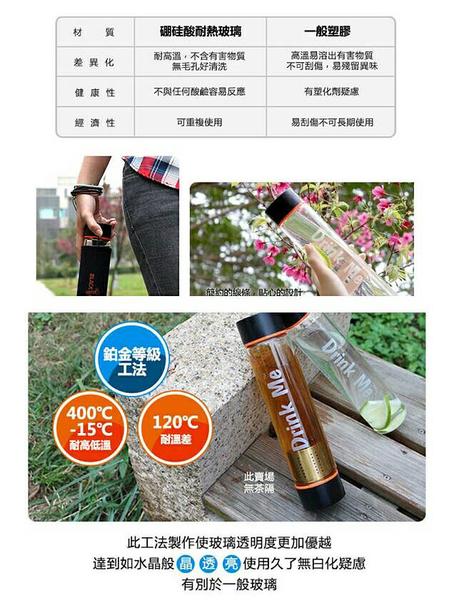 義大利BLACK HAMMER耐熱玻璃水瓶-475ml(附布套)(X-093)