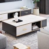大理石茶幾電視櫃組合北歐簡約現代客廳家用ins小戶型輕奢實木幾 現貨快出YJT