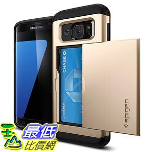 [美國直購] Spigen Galaxy S7 Edge  Card Holder Case 金灰白三色 手機殼 保護殼
