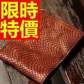 短夾 真皮男錢包-經典別緻優質時髦蛇紋皮革1色58c140[巴黎精品]