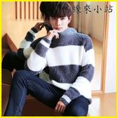 針織毛衣 秋冬男士高領毛衣半高領針織衫打底衫