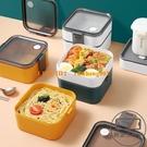 三明治飯盒便當盒可微波爐加熱分格輕食大容量塑料日式水果盒【輕派工作室】