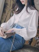雪紡襯衫女2018夏季新款長袖寬鬆韓版襯衣