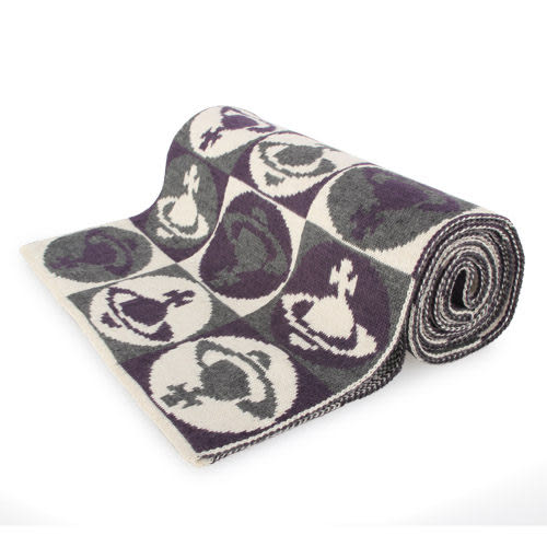 Vivienne Westwood 新款滿版星球圖樣圍巾(米色)910533