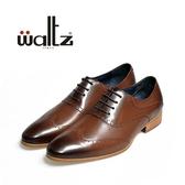 Waltz-仿古刷色雕花紳士皮鞋212126-23(咖)