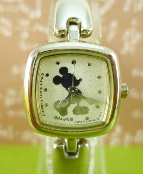 【震撼精品百貨】米奇/米妮_Micky Mouse~方形手錶-銀站姿
