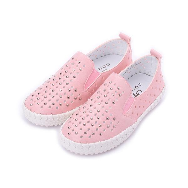 CONNIFE 小鉚釘洞洞鞋 粉 中童鞋 鞋全家福
