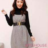 【RED HOUSE-蕾赫斯】素雅風格背心洋裝(不含腰帶)