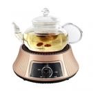 適煮花茶~【德朗】迷你陶爐 + 耐高溫高硼硅玻璃壺DEL-9900《刷卡分期+免運》