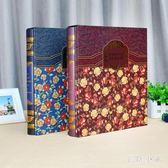相冊 復古6寸4R插袋相冊盒裝家庭寶寶影集大容量插頁式相薄 ys4988『毛菇小象』