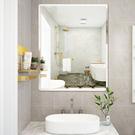 浴室鏡子 貼牆免打孔洗手間掛牆玻璃壁掛化妝衛生間廁所衛浴鏡自粘 快速出貨