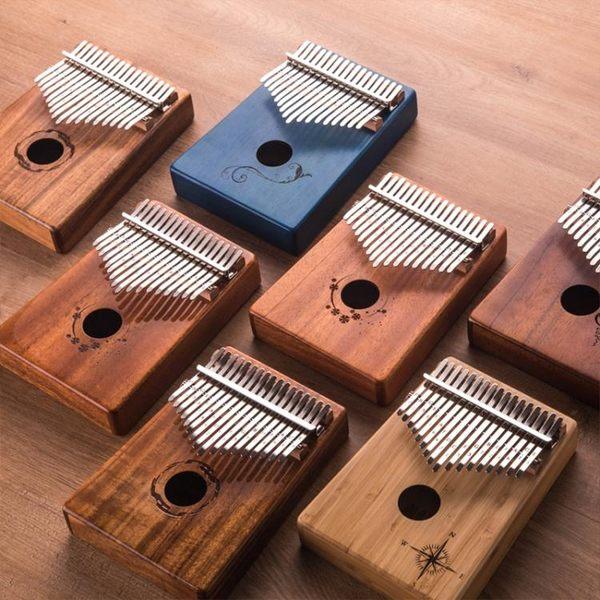 拇指琴卡林巴17音全單板手撥琴手指鋼琴初學者卡琳巴kalimba樂器台北日光