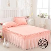 韓版公主蕾絲床裙單件床罩雙人席夢思床笠床墊保護套床套  ~黑色地帶