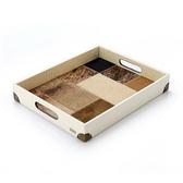 獨創設計商品-巴西牛皮馬賽克托盤_雅頓珍珠白-哥本哈根秋天