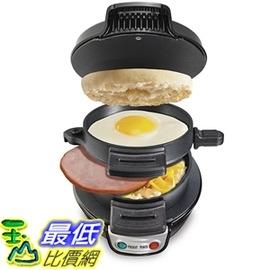 [美國直購] Hamilton Beach 25477 Breakfast Electric Sandwich Maker, Black DIY早餐 漢堡機 三明治機