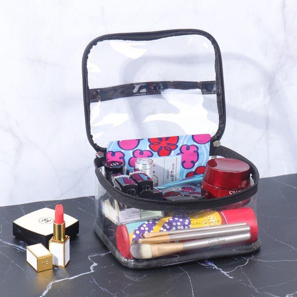 《WEEKEIGHT》簡約透明方型手提化妝包